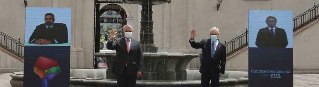 Piñera entrega a Duque presidencia pro témpore de Prosur en Santiago